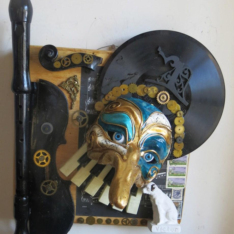 Title: Turandot Medium: Found Object Sculpture Size: 19H x 13.5W x11D