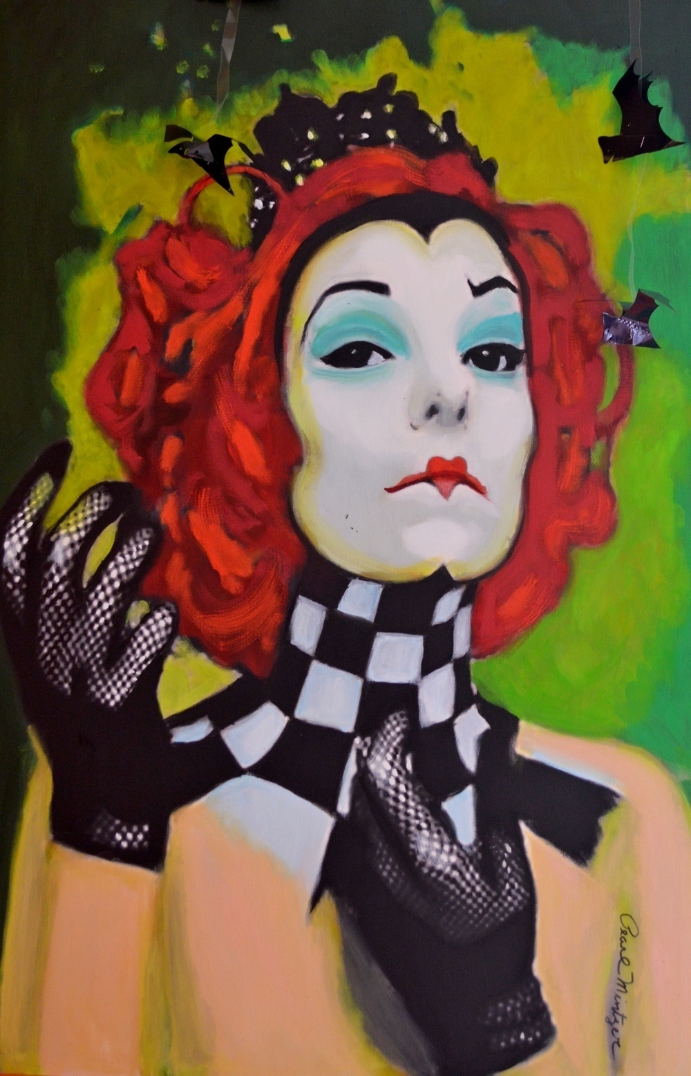 "Title: ""Queen Of Hearts"" Medium: oil Size: 24x36"