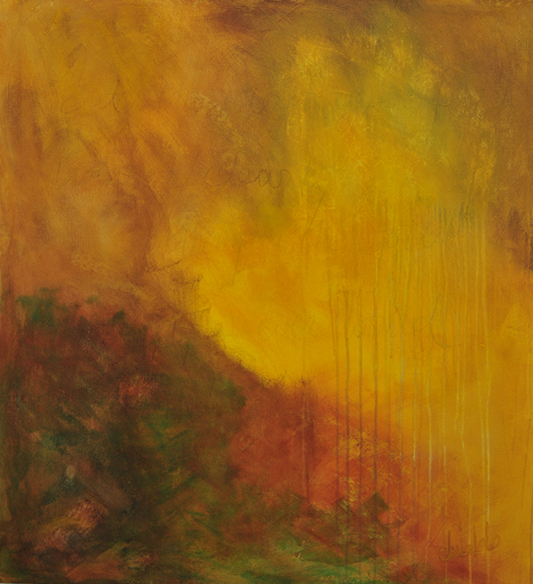 Title:Those Last Yellow Fields Medium:acrylic on canvas Size:46x42