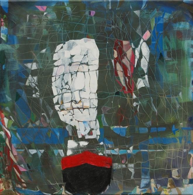 Title:The Ghetty docked Medium:Oil Size:75 x 75 x 2 cm