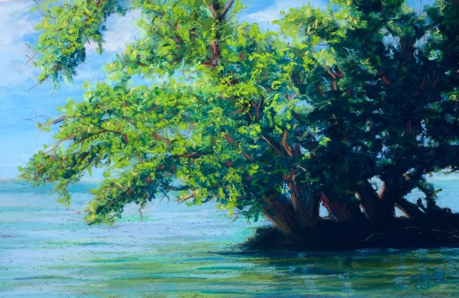 Title:Picnic Island Point Medium:	Pastel Size:	7 x 11