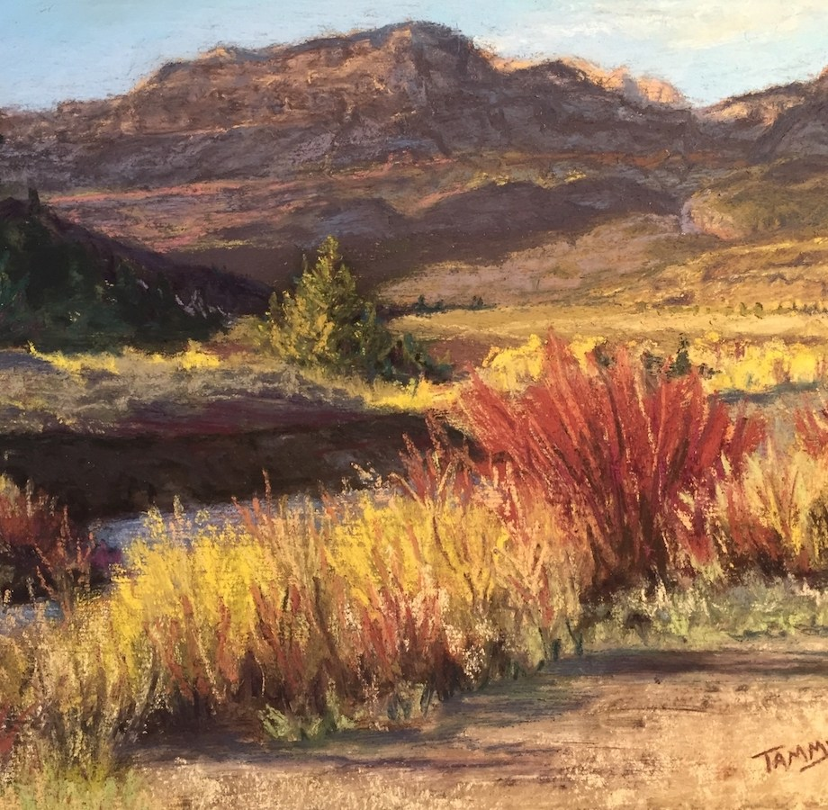 Title: Union Pass Bottom Medium: Pastel Size: 8 x 10