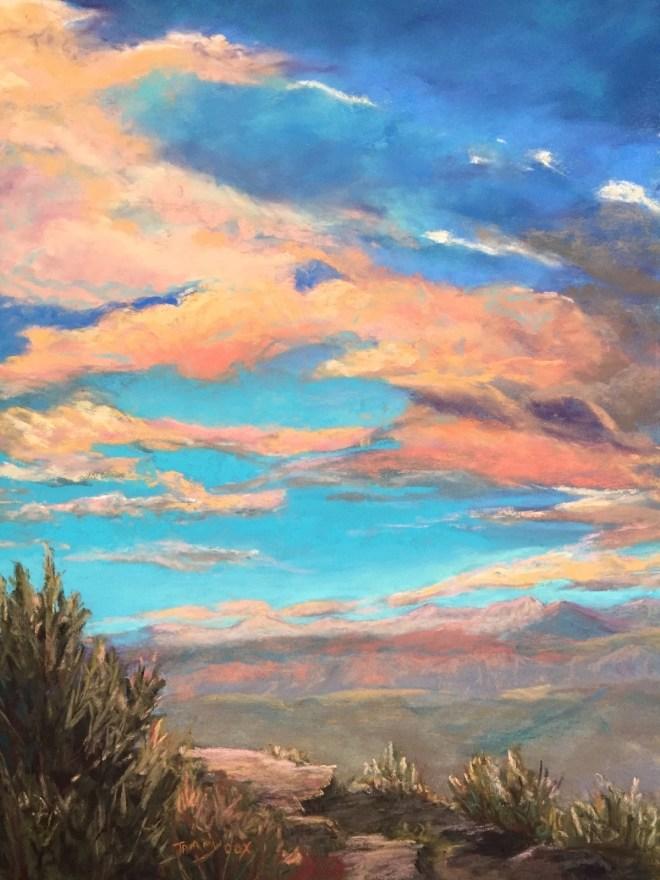 Title:Absoroka Sky Medium:Pastel Size:11 x 14