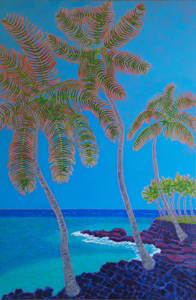 "Title:Big Island Blues Medium:	acrylic on canvas Size:	36"" x 24"""