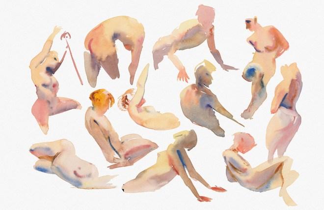 Title:Impression of Rhythm 1 Medium:Watercolor Size:11X17