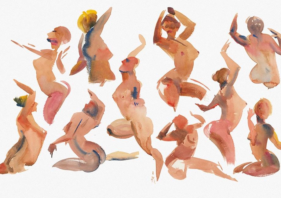 Title: Impression of Rhythm 2 Medium: Watercolor Size: 11X17