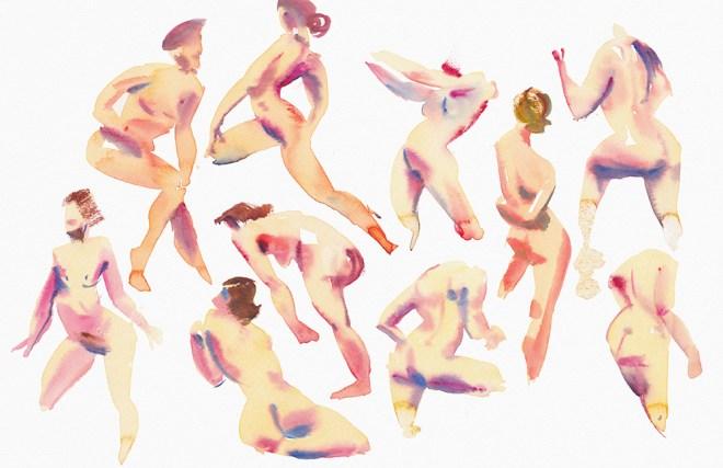 Title:Impression of Rhythm 4 Medium:Watercolor Size:11X17