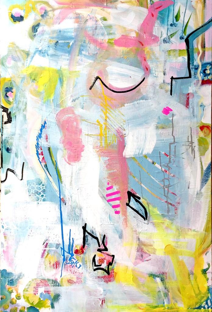 Title:Sans titre 1 Medium:acrylic and marker Size:100x65cm