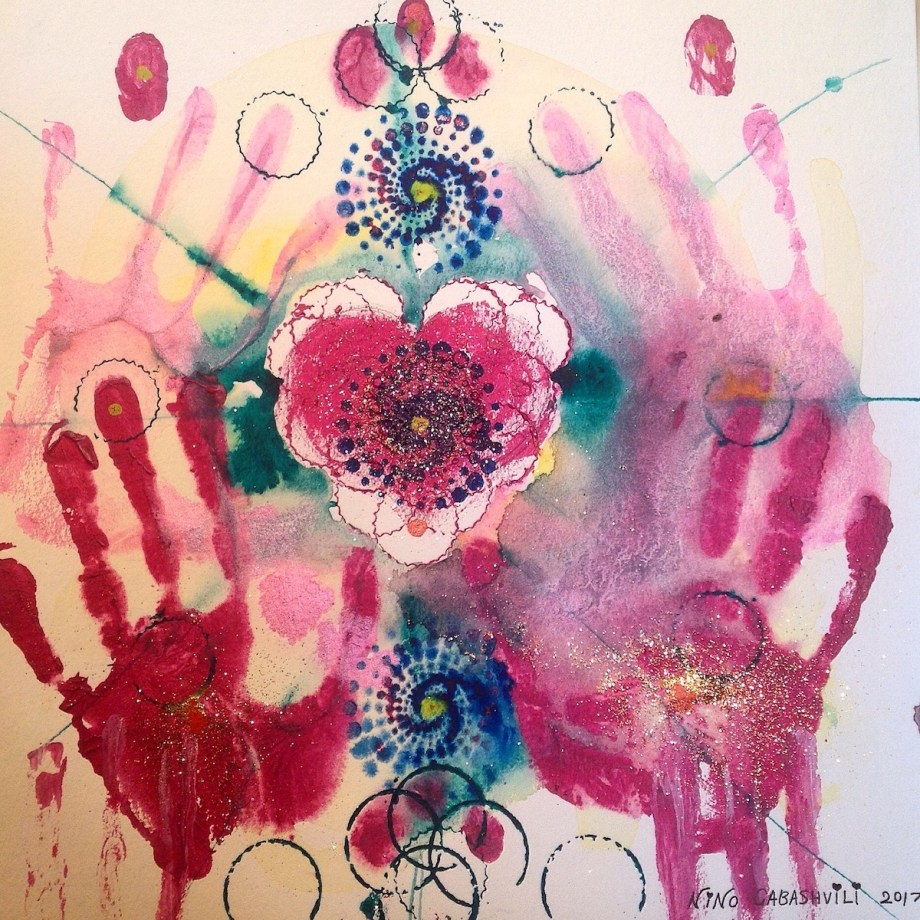 "Title:Spiritual heart Medium:Mixed media Size:12X12"""