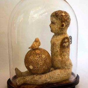 """Title: """"Coloquium"""" Medium: Mixed media/ Found objects Size: 21.5 x 16.5 x 8.5 inches"""
