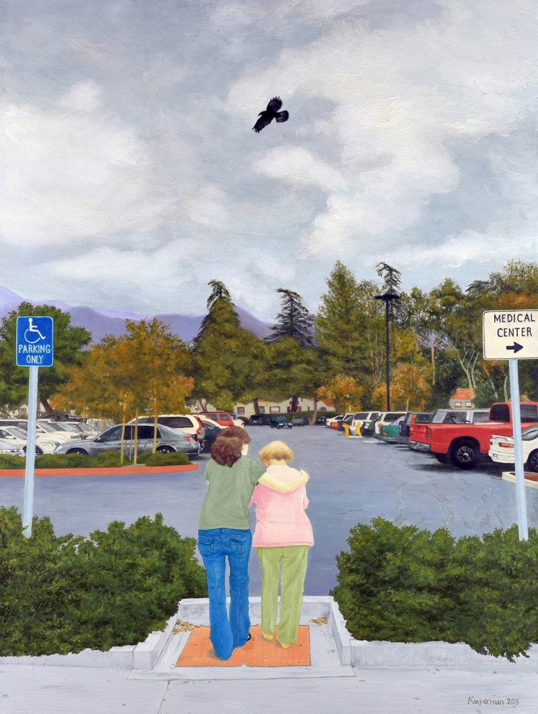 Title:Hospital Parking Lot Medium:	Oil Size:	40 x 30