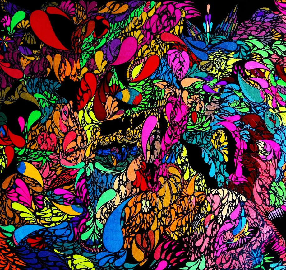 Title: Neon children Medium: Gel roll pens on paper Size: 56.0х76.0 сm