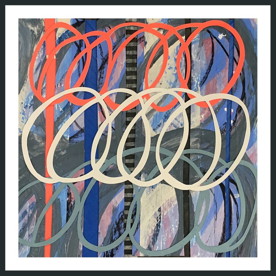 Title:Fast Forward Medium:	Mixed Media Size:	10x10""