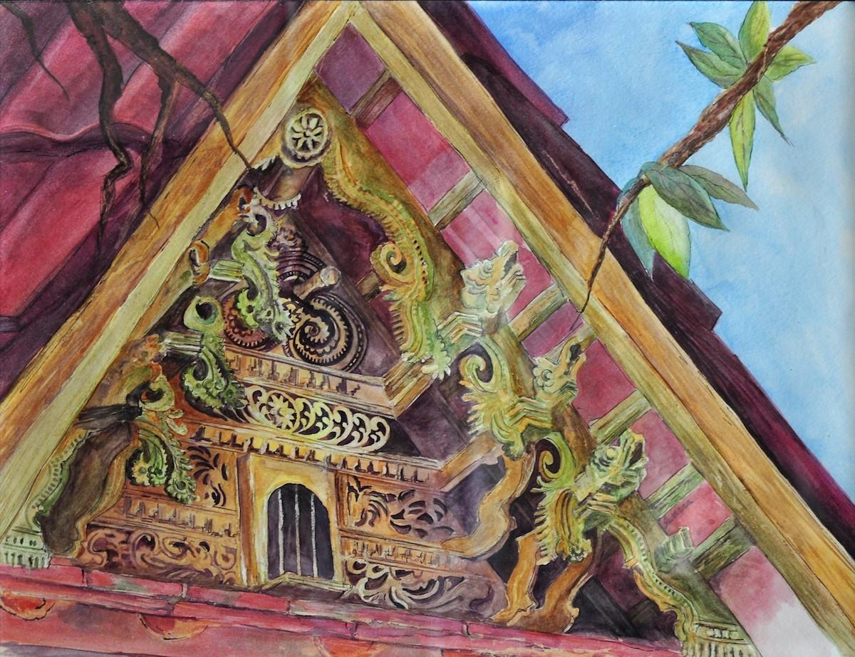 "Title: Green Gables Medium: Watercolors Size: 23"" x 17"""
