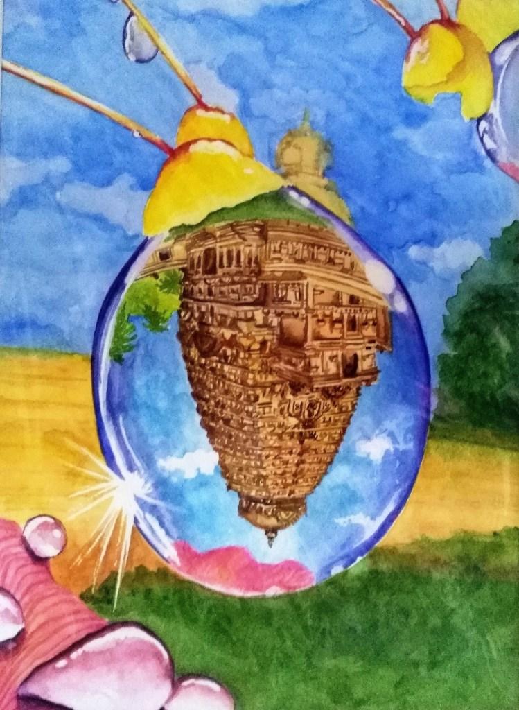 "Title:Dewy jewel Medium:Watercolors Size:11"" x15"""