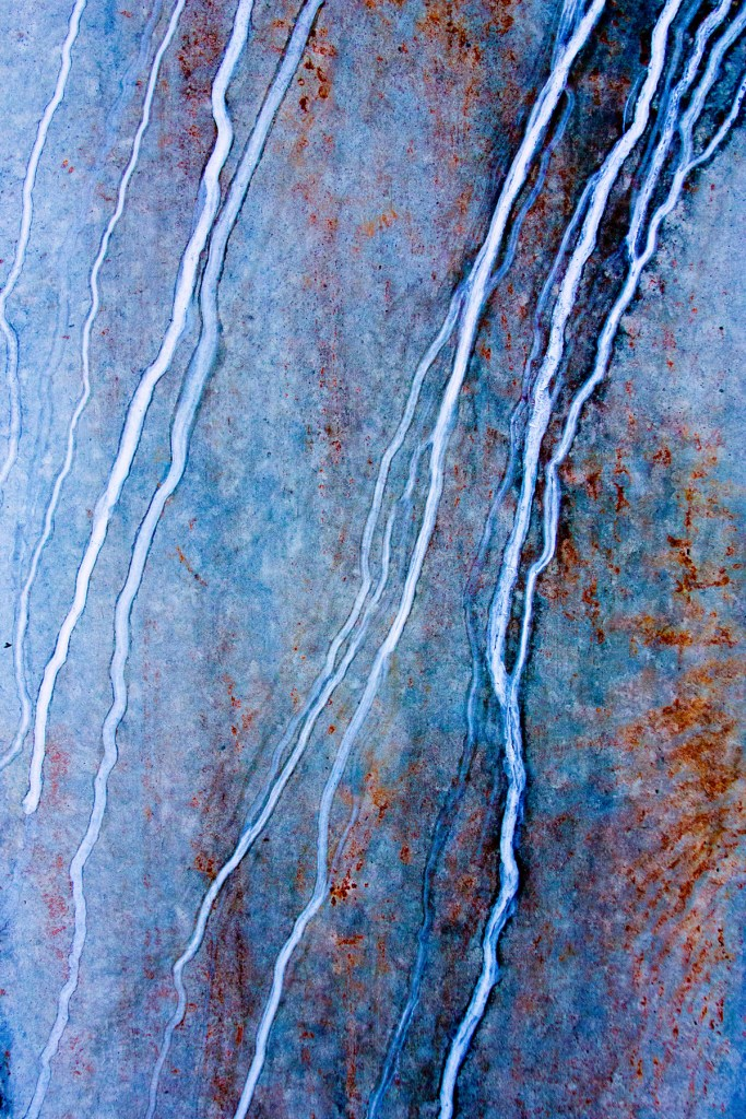 "Title Blue Rust Medium Photography Size 12"" x 18"""