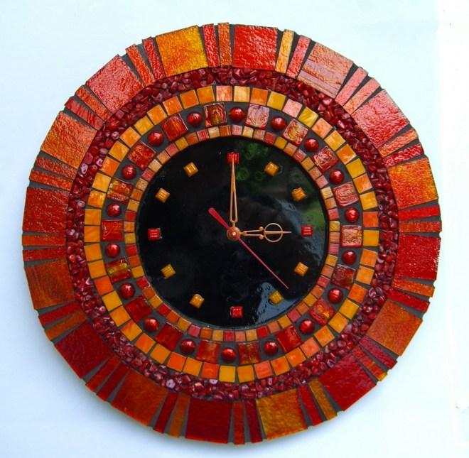 "Title Brilliant Clock Medium Mosaic Size 14"" X 14"""