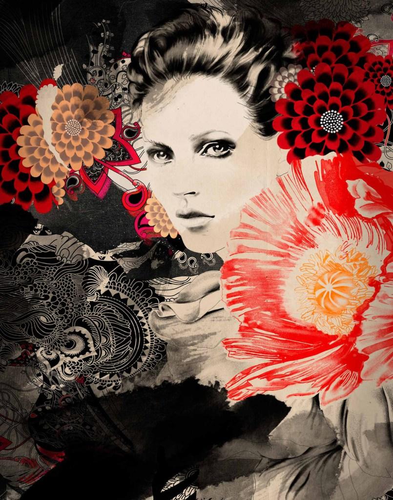 Title Synchronicity Medium Prin on Canvas Size 100 x 100 x 2.5 cm