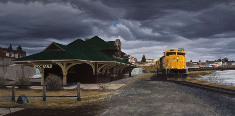 "Title The Town that Silver Built Medium Oil Size 30"" x 60"""