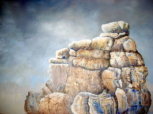 Title The Rock Medium acrylics Size 30''x 40''