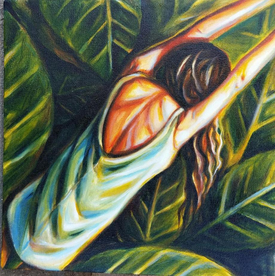 Title Lovely Leaf Medium Oil Size 10x10