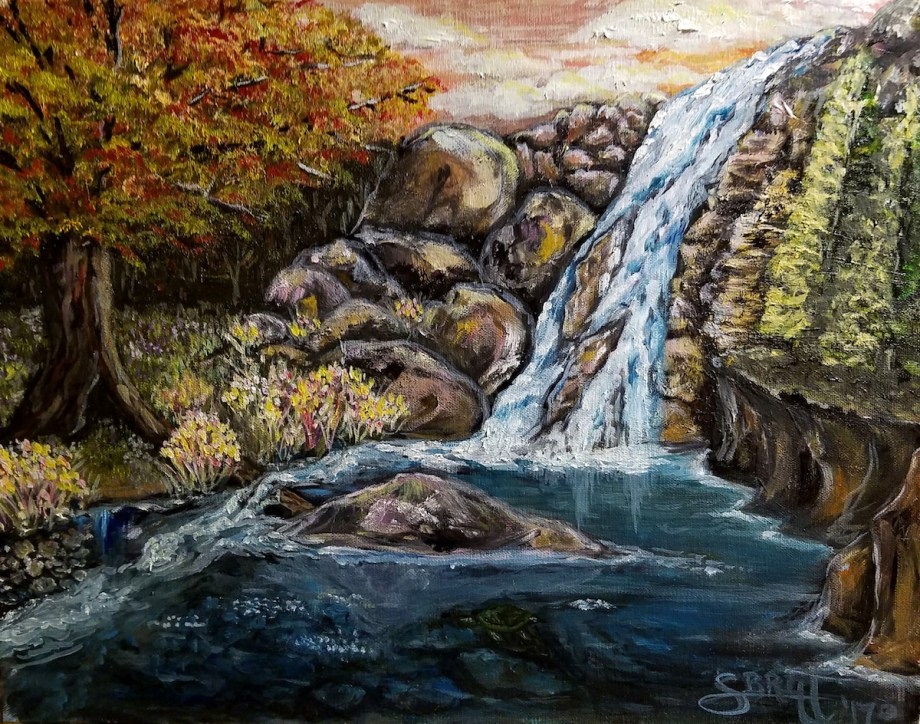 Title Turtle Falls Medium Oil Size 11x14
