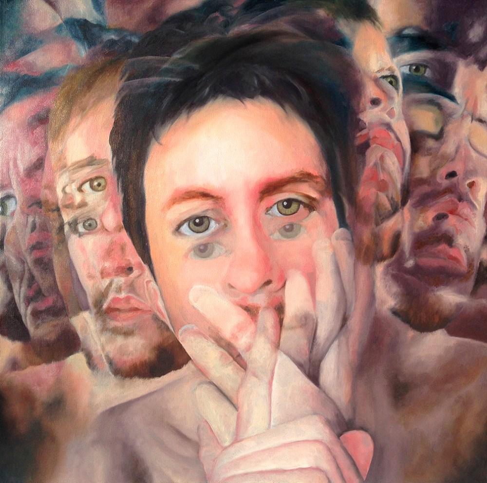 "Title Reticence Medium Oil on canvas Size 20"" x 20"""