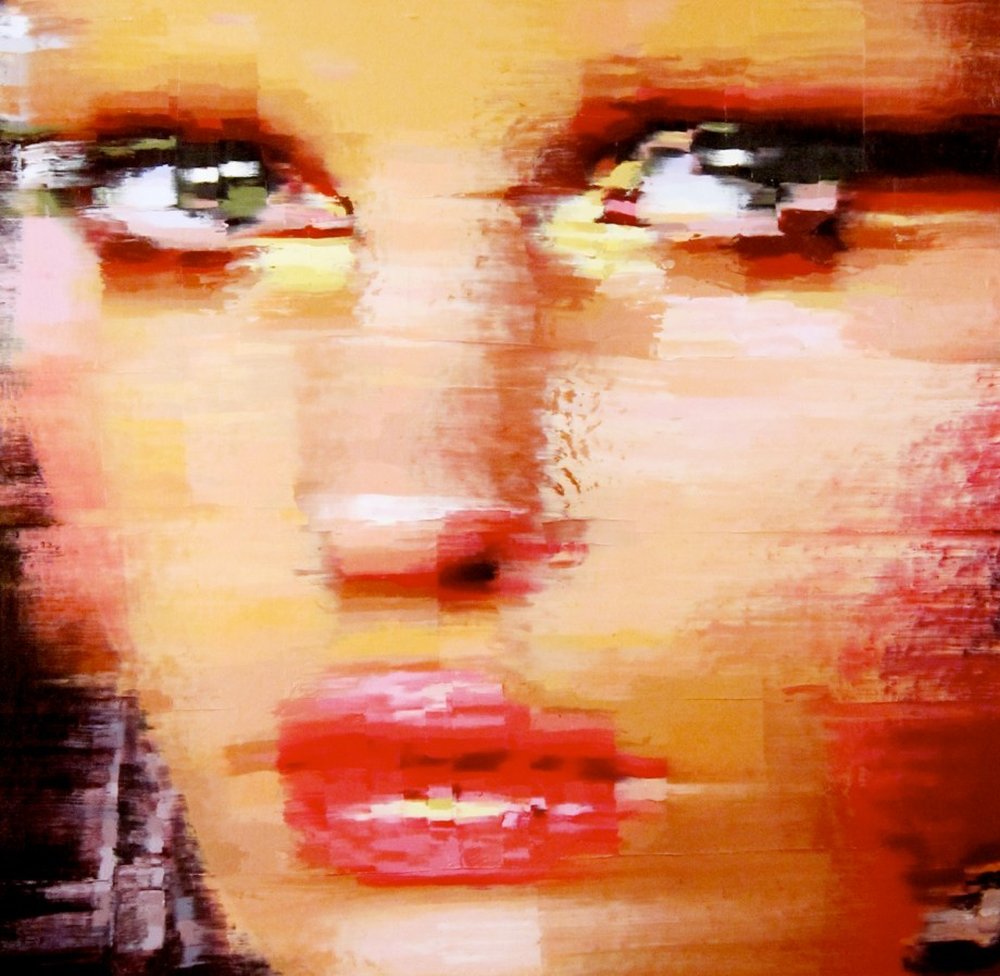 Title Mona Lisa Closeup Medium Oil on canvas Size 20 x 19