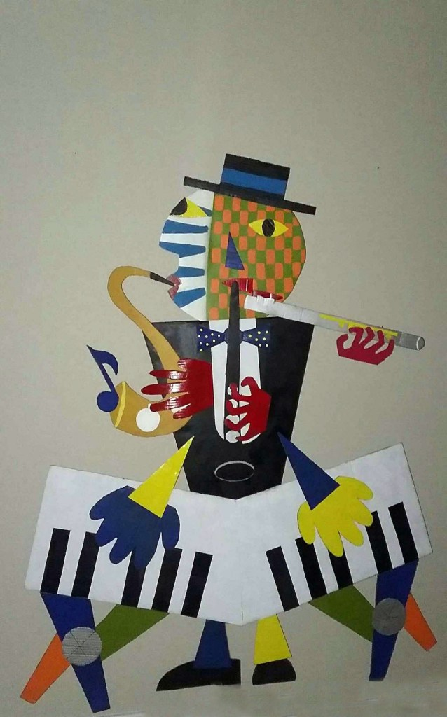 Title The Musician Medium cardboard Size 64x 50
