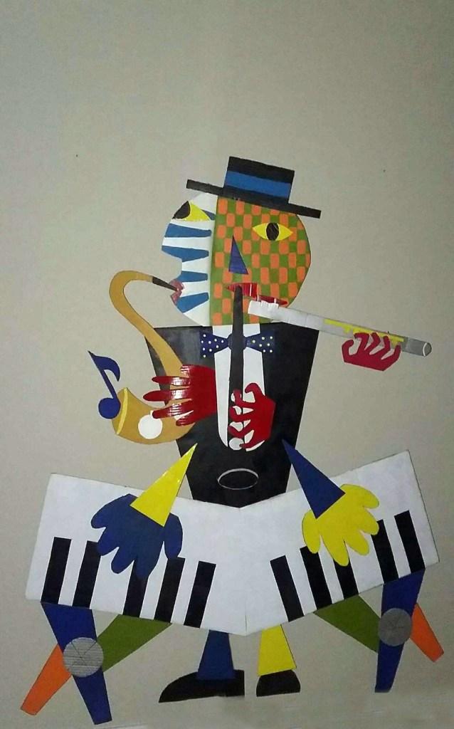 Title The Musician Medium cardboard Size 64x 50
