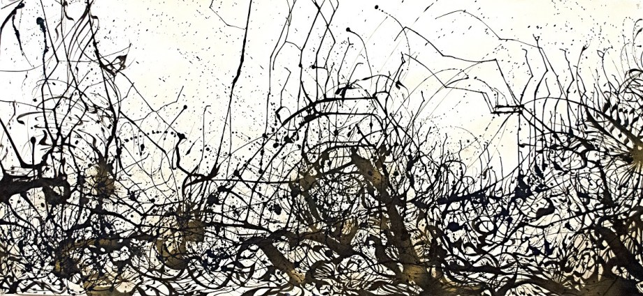 Title Oscillation Medium Ink on paper Size 5'x10'