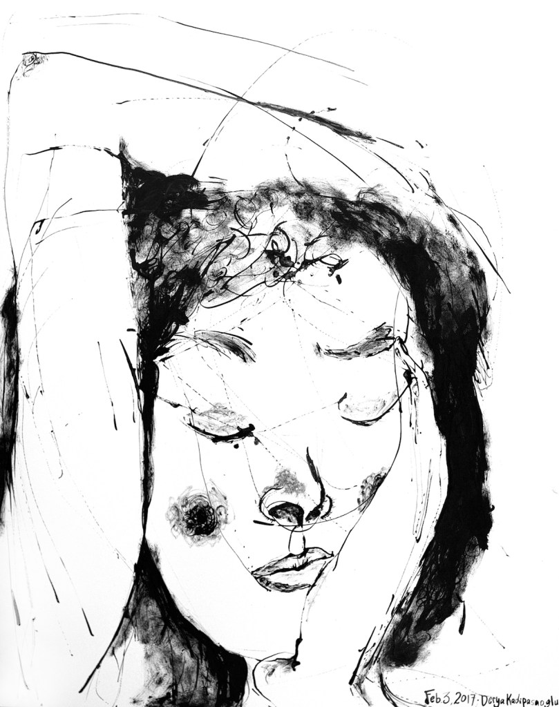 Title A memory Medium Sumi ink on paper Size 19in. x 27in.