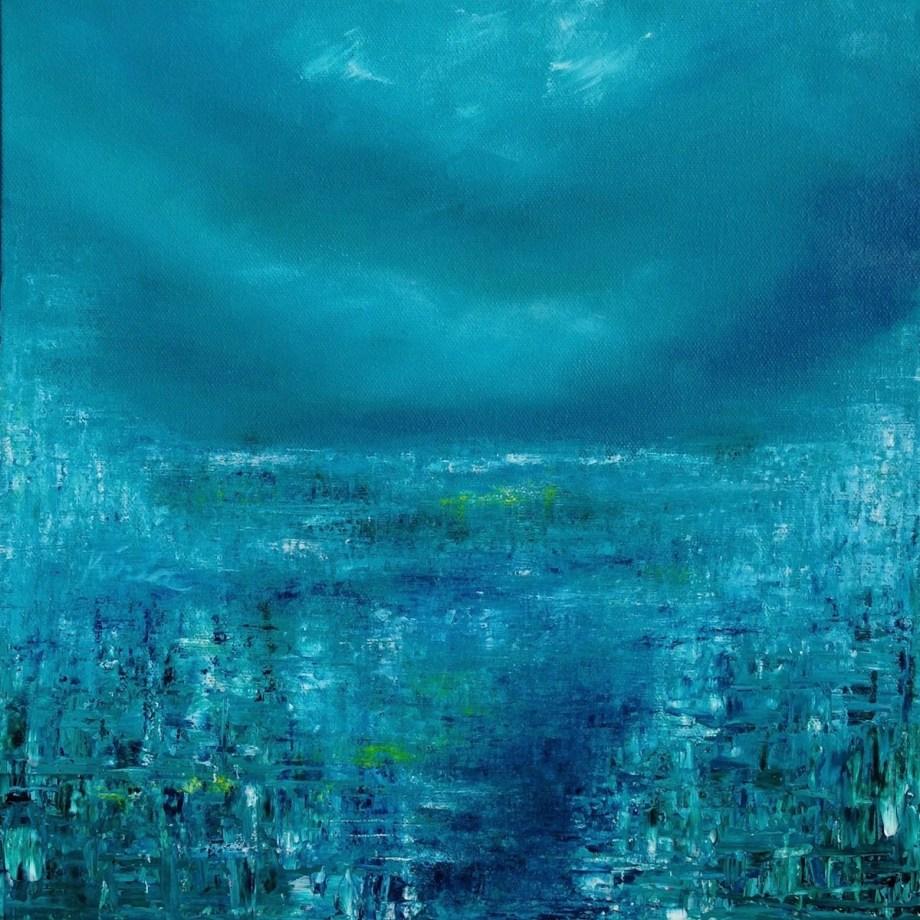 "Title ""Solitary Rhythm"" Medium Oil on Canvas Size 12 X 12 Inches"