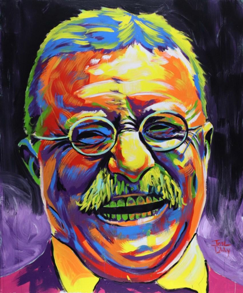 "Title Theodore Roosevelt Medium Acrylic Size 60"" x 72"""