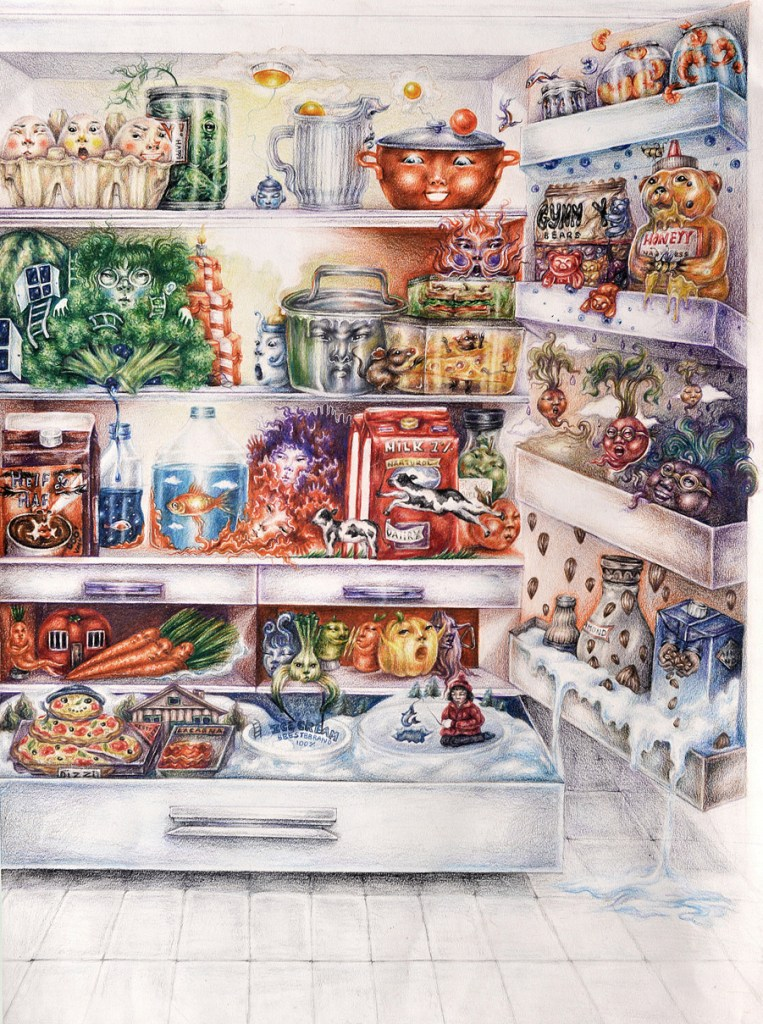 Title Life of Food Medium Color Pencil Size 18 x 24 inches
