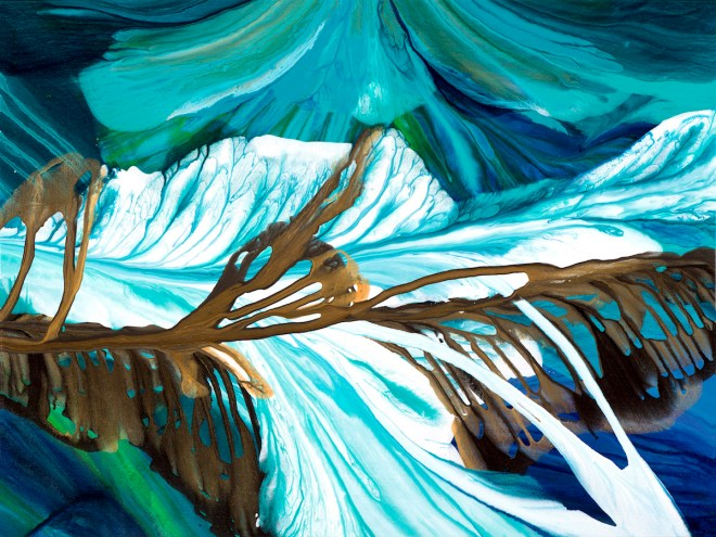 "Title Columbia Icefields Medium Acrylic Size 40""x30"""