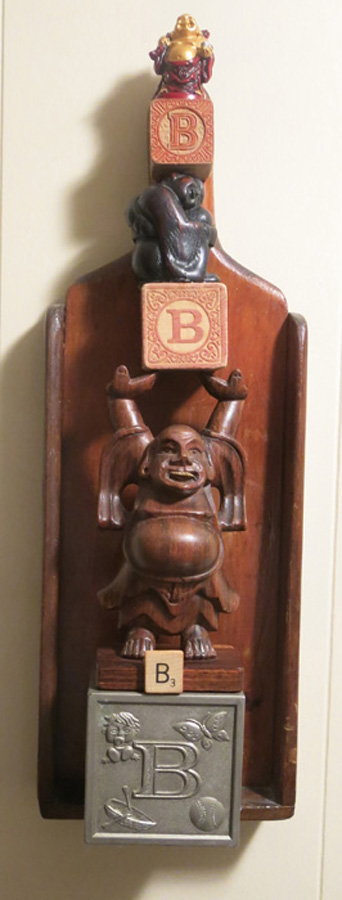 Title B is for... Medium Found Objects Size 18H x 6W X 4.45D