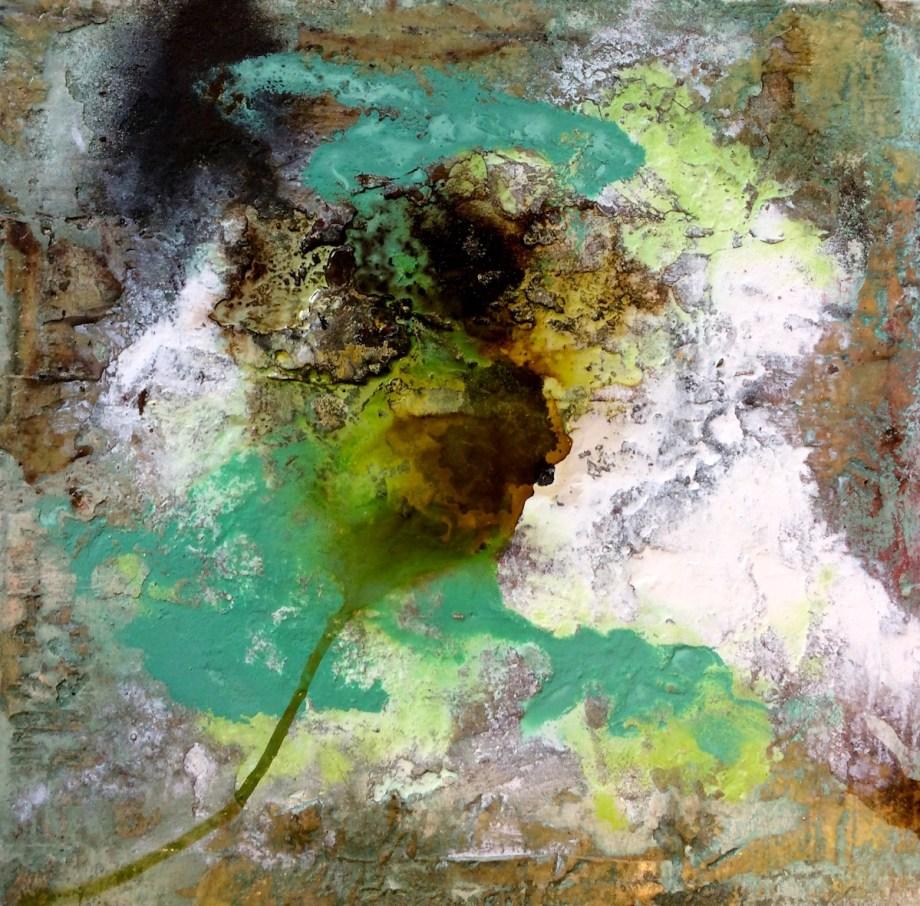 Title Transparant Medium Structure art on canvas Size 50x50 cm