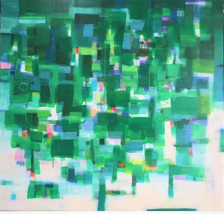 Title The Forest 2017 Medium Acrylic on canvas Size 110 cm x 110 cm