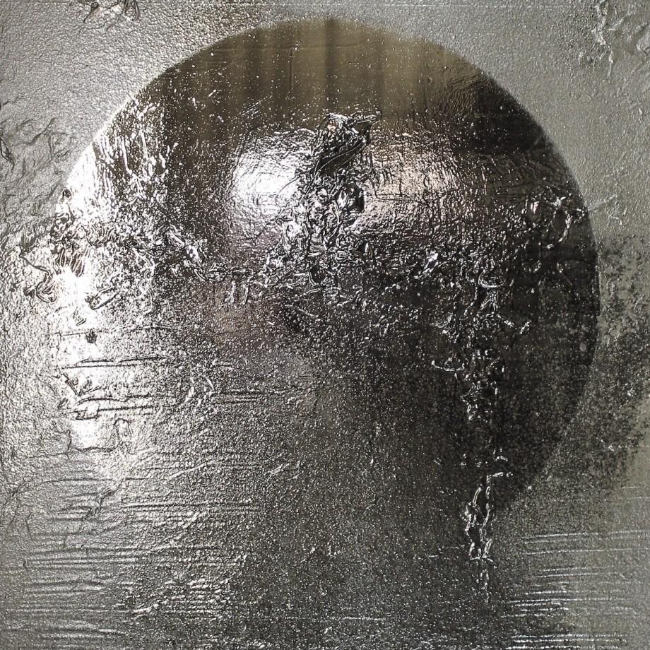 "Title Celestial #4 Medium silver nitrate deposit on panel Size 30""x40"""