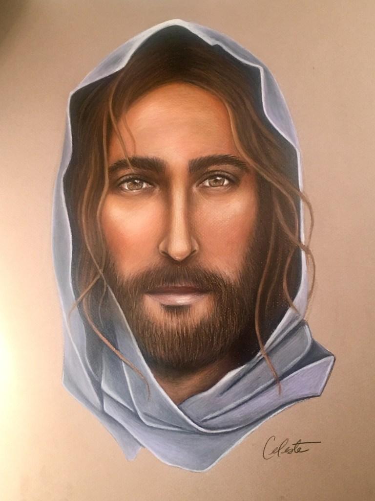 Title Jesus Medium Colored Pencil Size 16x20
