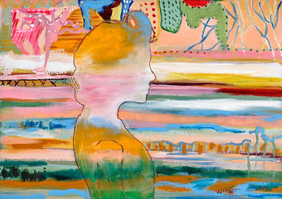 Title wish Medium acrylic, oil, oilsticks, pastel on paper Size 24x30cm