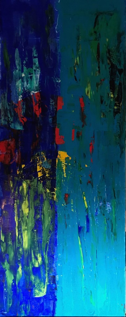 "Title Reveal Medium Acrylic Size 40"" x 16"""