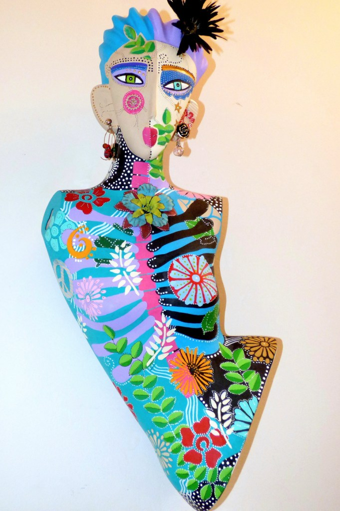 Title Put On Your Big Girl Panties Medium up-cycled 3D mixed media Size 47 x 21x 12