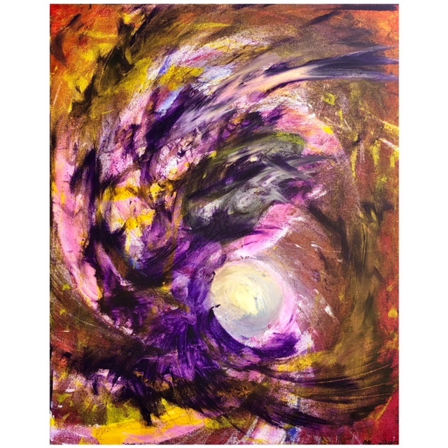 Title The Eagle Moon Medium Acrylic Size 16x20in