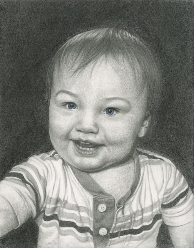 Title Baby Boy Medium Pencil Size 11 x 14