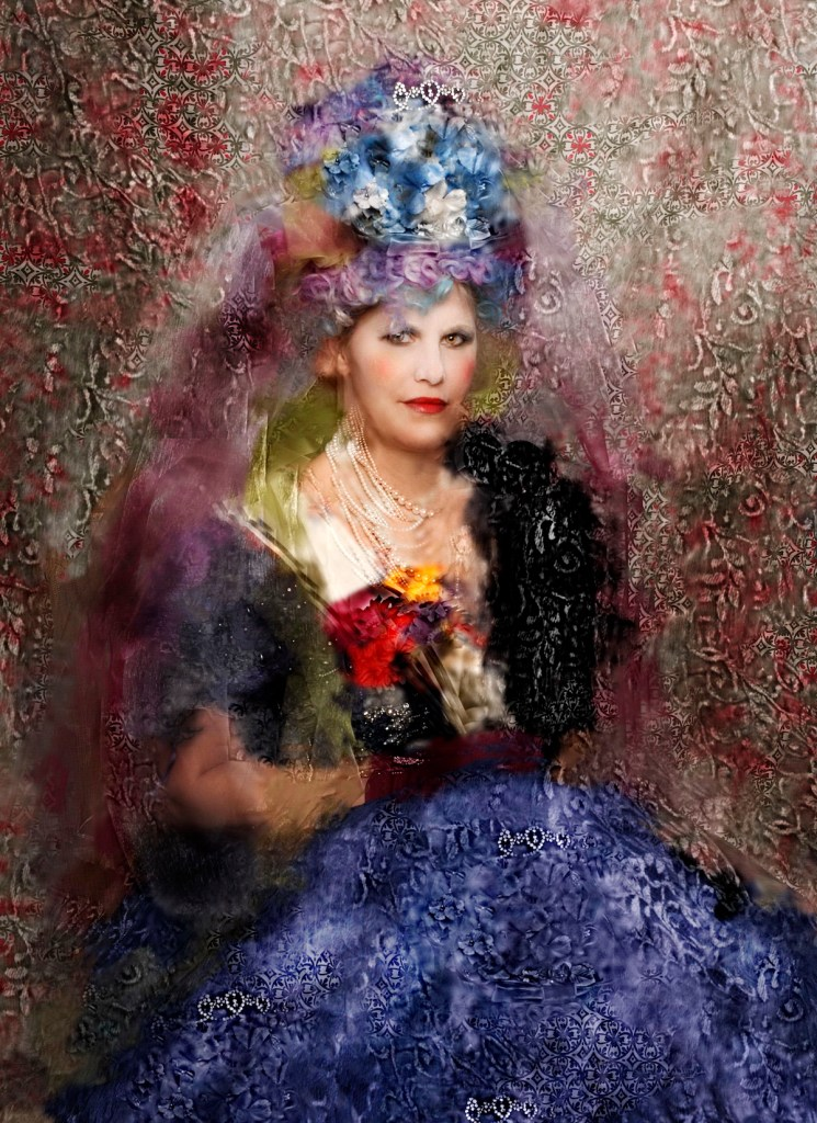 """Title Lady in Waiting Medium photograph Size 20"""" x 24"""""""