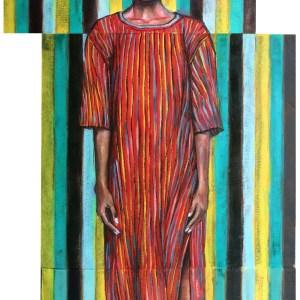 Title Minus Three Medium Oil Size 44 x 105 cm