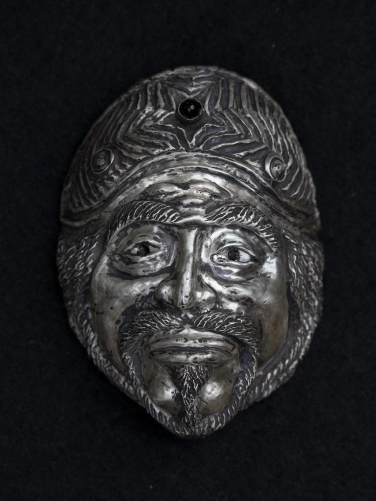Title The Centurion Medium sculpture, silver repousse Size 2x1x.5