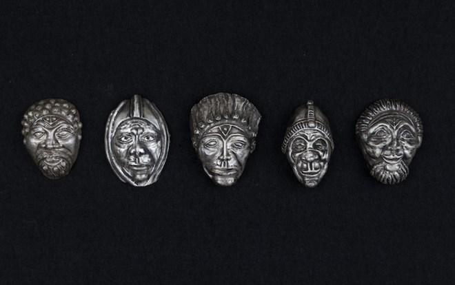 itle The Elders Medium sculpture, silver repousse Size 3x6x1.5
